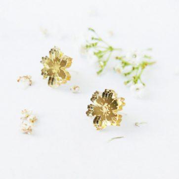 Bica orecchini anemone oro