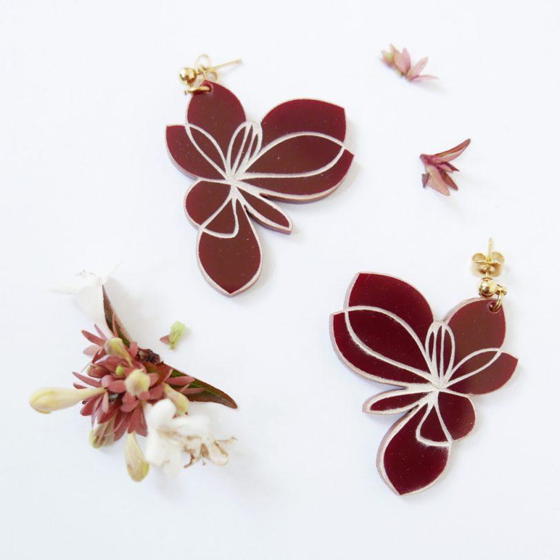 Bica orecchini pendenti blossom dettaglio