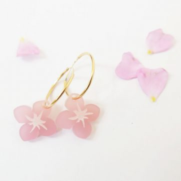 Bica orecchini small spring rosa