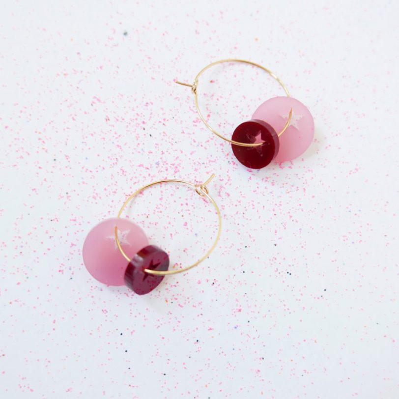 Bica orecchini twinckle rosa
