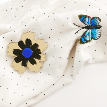 Bica spilla anemone blu