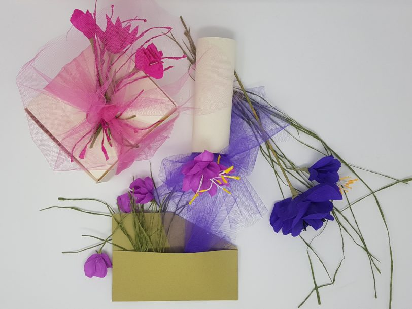 collection of love package bomboniere fiori rosa blu